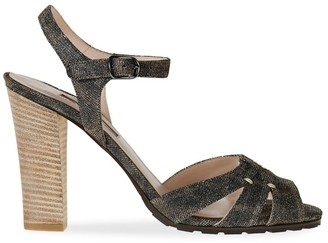 Sarah Jessica Parker Leopard-Print Glitter Loafers
