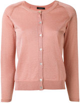 Roberto Collina fitted round neck cardigan - women - Viscose/Polyester - L