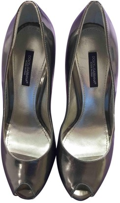 Dolce & Gabbana Silver Patent leather Heels