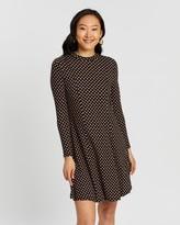 Dorothy Perkins Geo Printed High Neck Swing Jersey Dress