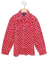 Oscar de la Renta Girls' Printed Long Sleeve Top