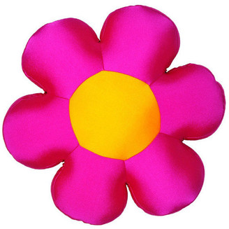 Collection Squishy Micro-Bead Flower Pillow, Pink
