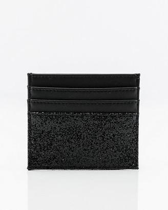 Le Château Glitter Faux Leather Card Holder