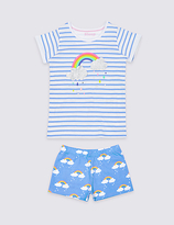 Marks and Spencer Pure Cotton Short Pyjamas (3 Months - 8 Years)