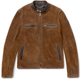 Belstaff - Landrake Leather-trimmed Suede Blouson Jacket