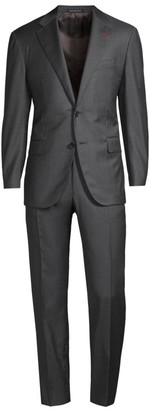 Isaia New Sanita Basic Wool Suit