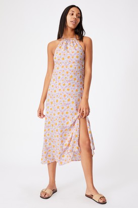 Cotton On Woven Harper Tie Back Halter Midi Dress