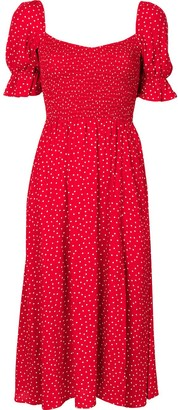 Reformation Parsley polka-dot midi dress