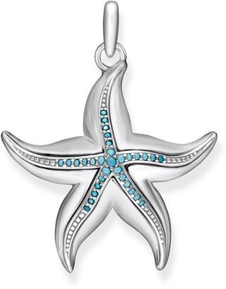 Thomas Sabo Women-Pendant Starfish Glam & Soul 925 Sterling silver PE806-667-18