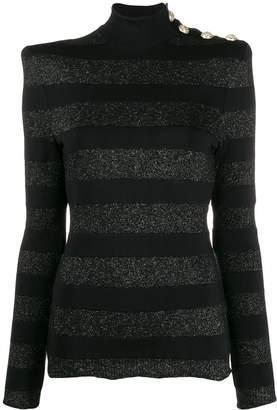 Balmain stripy knitted jumper