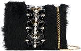 Emanuela Caruso fur detail shoulder bag