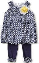 Rare Editions Baby Girls 12-24 Months Printed Chiffon Bubble Tunic & Legging Set