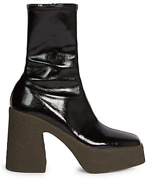 Stella McCartney Women's Faux Patent Leather Platform Booties
