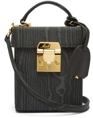 Mark Cross Grace Mini Moire Cross-body Bag - Black