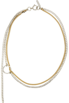 Justine Clenquet Silver and Gold Jane Choker