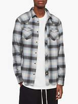 AllSaints Vinita Plaid Shirt, Black/White