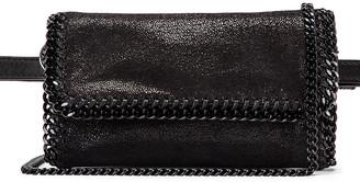 Stella McCartney Falabella Flap Chain Belt Bag in Black   FWRD
