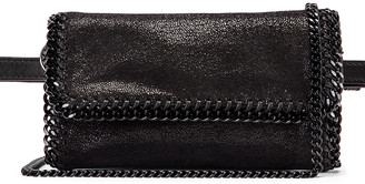Stella McCartney Falabella Flap Chain Belt Bag in Black | FWRD