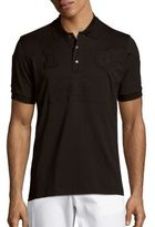 Brioni Embroidered Cotton Polo Shirt