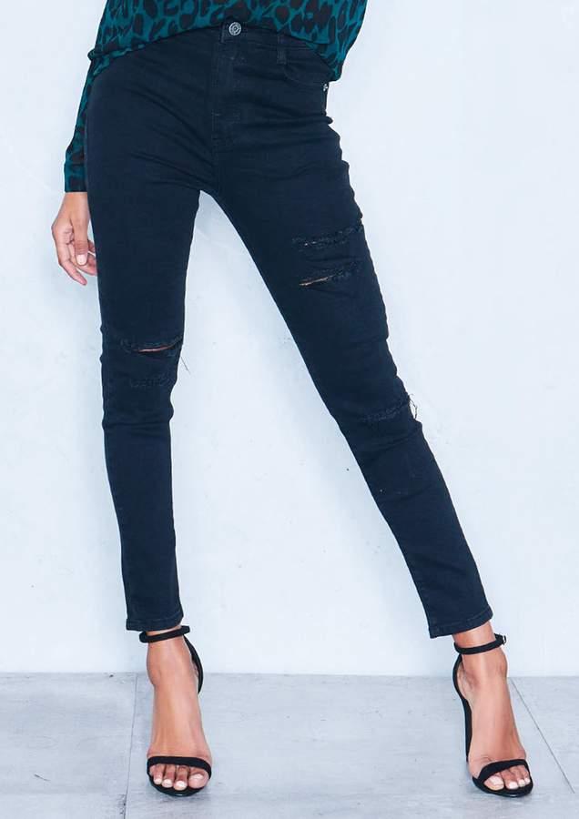 4cefbfe590 Extreme Ripped Black Jeans - ShopStyle UK
