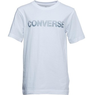 Converse Junior Boys Gloss T-Shirt White