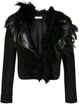 Lanvin feather-trimmed jacket