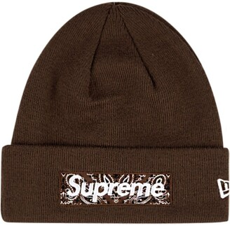 Supreme x New Era logo beanie