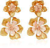 Oscar de la Renta Bold Gold-Tone Flower Drop Earrings