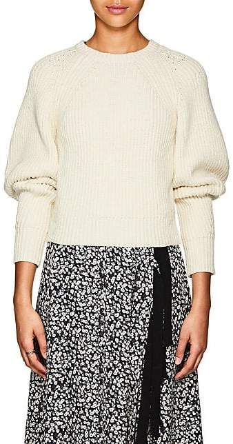 Derek Lam Women's Cotton-Blend Crop Sweater - Ivory