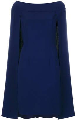 Alberta Ferretti cape flared dress