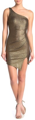 Jump One Shoulder Glitter Mini Dress