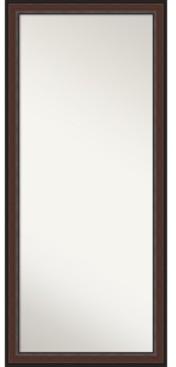 """Amanti Art Harvard Framed Floor/Leaner Full Length Mirror, 28.5"""" x 64.50"""""""