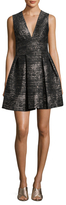 Bailey 44 Sequin Pleated Fit And Flare Dress