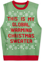 American Rag Men's Global Warming Graphic-Print Sweater Vest, Only at Macy's
