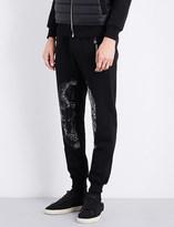 Philipp Plein Embellished-skull cotton jogging bottoms
