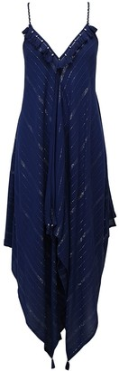 Nooki Design Larna Hanky Hem Dress - Navy