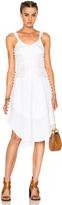 Chloé Light Cotton Voile Button Detail Sleeveless Dress