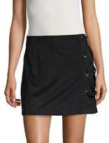 Kensie Faux Suede Mini Skirt