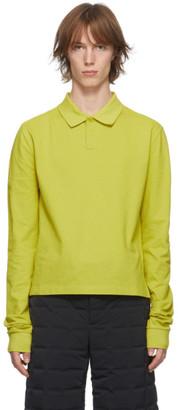 Bottega Veneta Green Pique Long Sleeve Polo