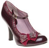 Ruby Shoo New Womens Red Maroon Georgia Synthetic Shoes Mid Heels Buckle