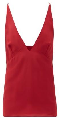 Raey Silk Crepe De Chine Cami Top - Red