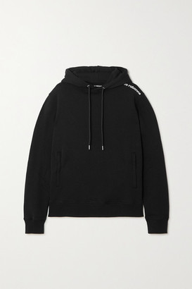 Paco Rabanne Bodyline Printed Cotton-jersey Hoodie - Black