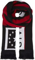 Givenchy Striped Luxurious Stars And Stripes Wool-blend Scarf