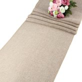 AerWo Natural Imitated Linen Table Runner for Wedding Party Decoration - 13.5 Inches x 156 Inches - XL