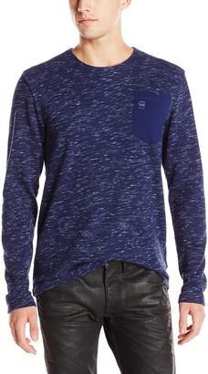 G Star Men's Xauri Rock Jersey Long Sleeve Pocket Shirt