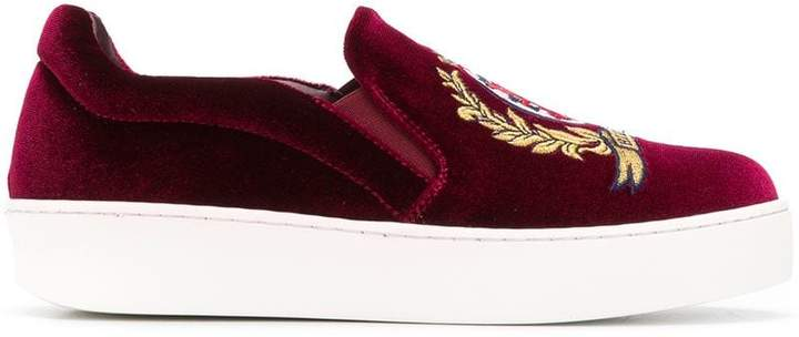 Tommy Hilfiger embroidered logo crest sneakers
