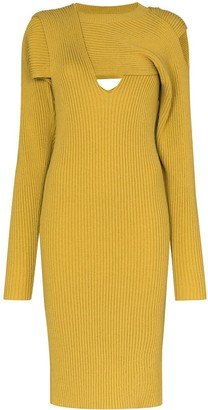 Bottega Veneta Cut-Out Knitted Dress