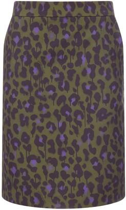Boutique Moschino Leopard Print Pencil Skirt