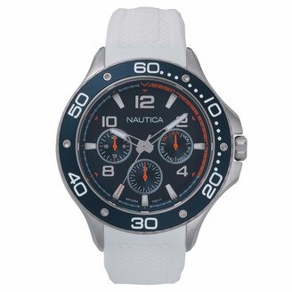 Nautica Men's PIER 25 Collection Japanese-Quartz Watch with Stainless-Steel Strap