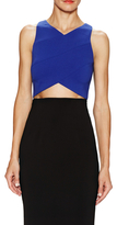 Jay Godfrey Purdy Cropped Top with Seaming Detail